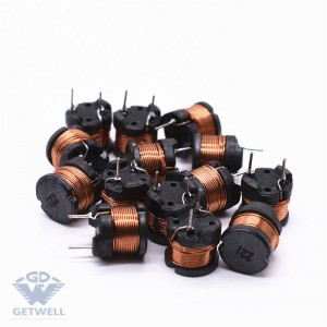 Cheapest Factory Radial Ferrite Magnetic Core 3 Pins Miniature Buzzer Drum Core Inductor Radial Inductor For Car