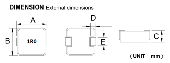 shape and dimensions